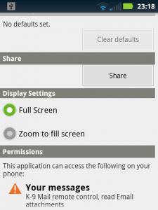 App Display Options